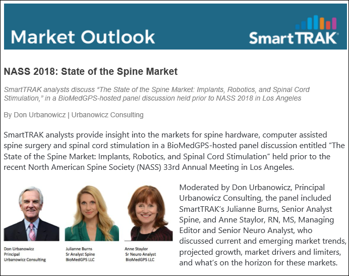 NASS 2018: State of the Spine Market